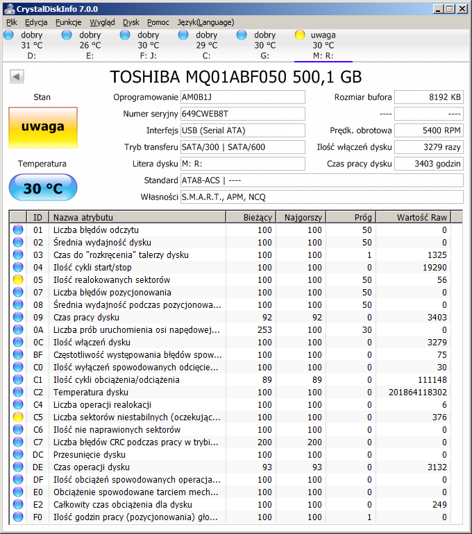 Testy HDD S.M.A.R.T. HDTune-2016-07-25-22_36_57-crystaldiskinfo-7.0.0.png
