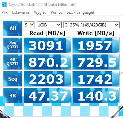 Nazwa:  SSD Samsung 960 Pro PCIE 3x4 Crystal 6.01.2018.jpg,  obejrzany:  99 razy,  rozmiar:  54.8 KB.