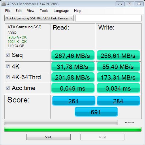 Nazwa:  AS SSD Benchmark 1.7 @ICH10R SATA II MBs.png,  obejrzany:  889 razy,  rozmiar:  38.3 KB.