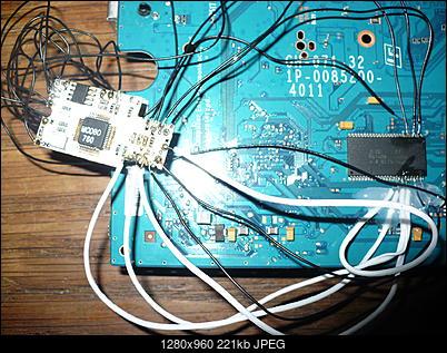 PS2 + Modbo760 - czarny ekran po wlutowaniu-p1100450.jpg