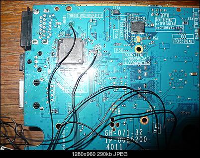 PS2 + Modbo760 - czarny ekran po wlutowaniu-p1100451.jpg