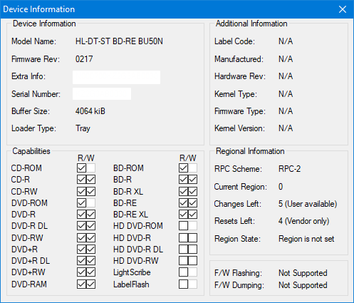LG  BU40N \ BU50N Ultra HD Blu-ray-device-info.png