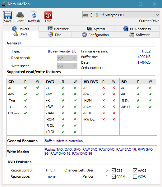 LiteOn EB1 4K/Ultra HD Blu-ray Writer-infotool.png