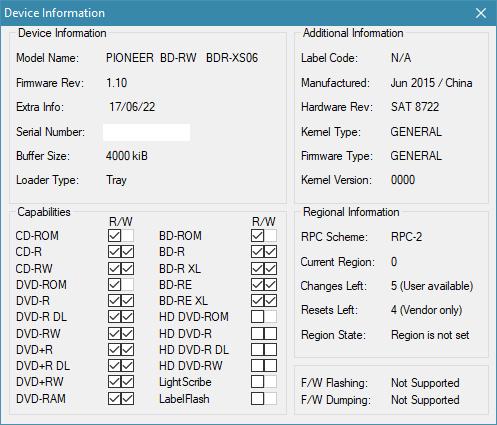 Pioneer BDR-XS06 / XS06T / XS06JL-device-info.png