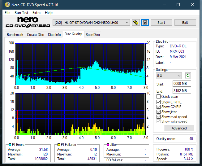 Pioneer BDR-212V - Vinpower / Pioneer-dq_2.4x_gh24nsd0.png