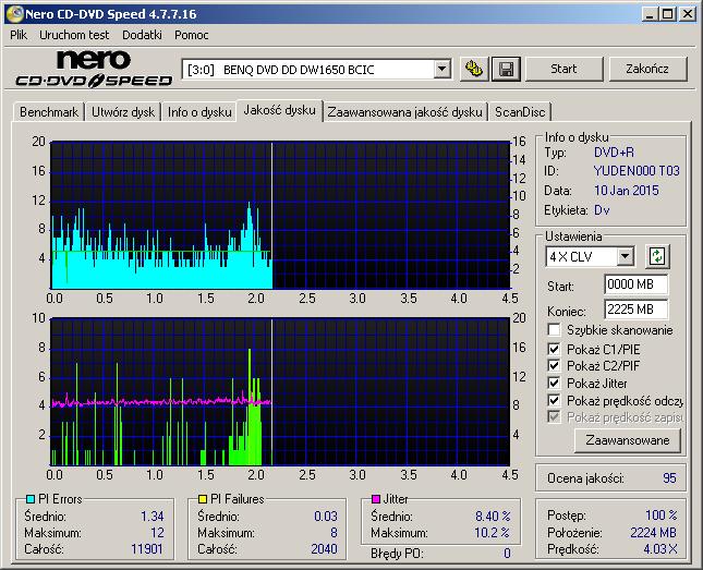Запись/тест на: Optiarc AD-7170A (прошивка: 1.o3) Verbatim DVD+R 16x (MCC 0