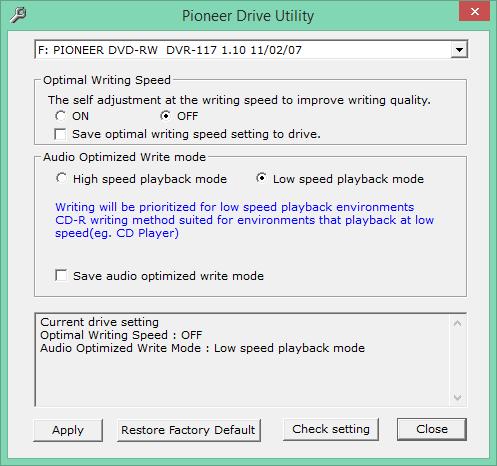 Audio Optimized Write  - Pioneer DVD Drive-2018-01-26_17-55-57.png