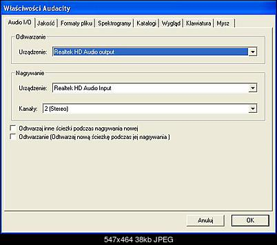 Brak stereo mix w Audacity (Windows XP)-audacityustawienia.jpg