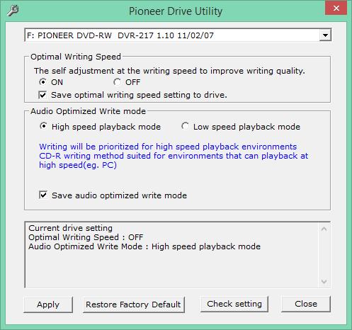Audio Optimized Write  - Pioneer DVD Drive-2016-08-11_10-09-42.png