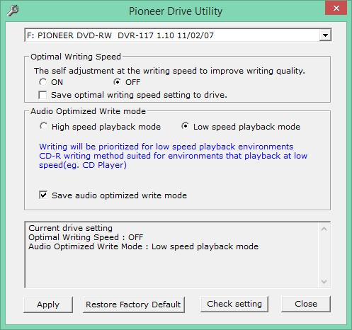 Audio Optimized Write  - Pioneer DVD Drive-2016-12-02_11-07-35.png