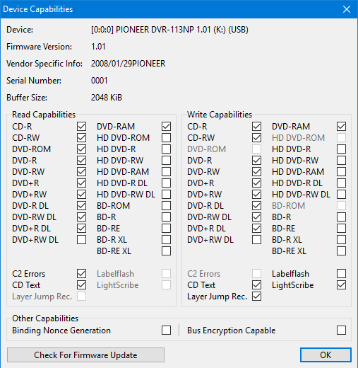 PIONEER DVR 113NP DRIVER PC
