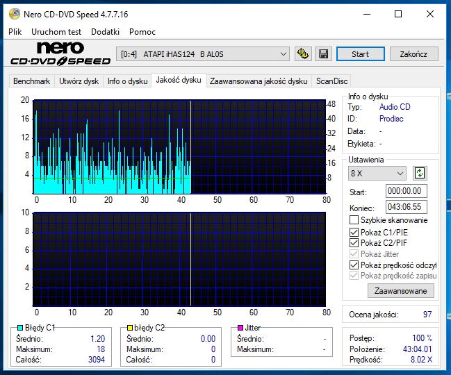 Nazwa:  10-09-2018 08,00 8x@PLEXTOR DVDR   PX-760A 1.07 scan1.PNG,  obejrzany:  49 razy,  rozmiar:  56.8 KB.