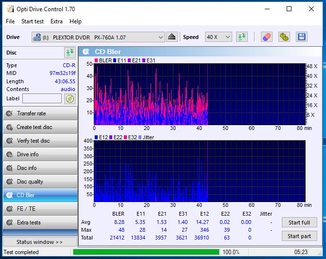 Nazwa:  10-09-2018 08,00 8x@PLEXTOR DVDR   PX-760A 1.07 scan3.PNG,  obejrzany:  52 razy,  rozmiar:  69.7 KB.
