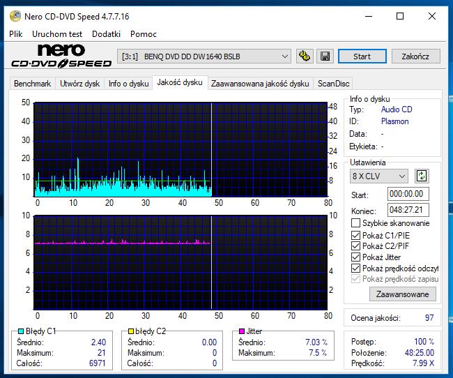 Nazwa:  10-09-2018 13,00 8x@PLEXTOR DVDR   PX-760A 1.07 scan2.PNG,  obejrzany:  50 razy,  rozmiar:  56.1 KB.