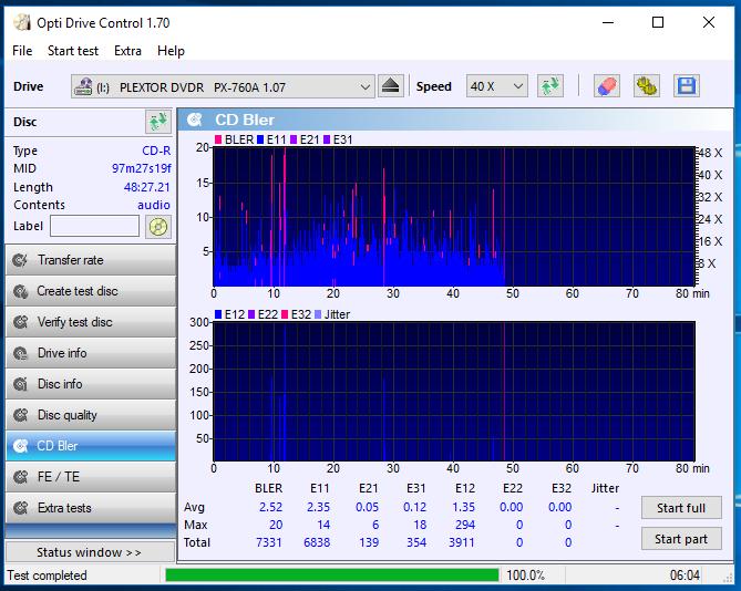 Nazwa:  10-09-2018 13,00 8x@PLEXTOR DVDR   PX-760A 1.07 scan3.PNG,  obejrzany:  48 razy,  rozmiar:  61.8 KB.