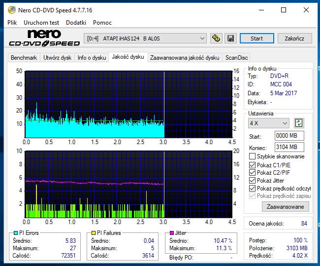 Nazwa:  18-09-2018 12,00 6x@PLEXTOR DVDR   PX-760A 1.07 scan1.PNG,  obejrzany:  41 razy,  rozmiar:  59.4 KB.