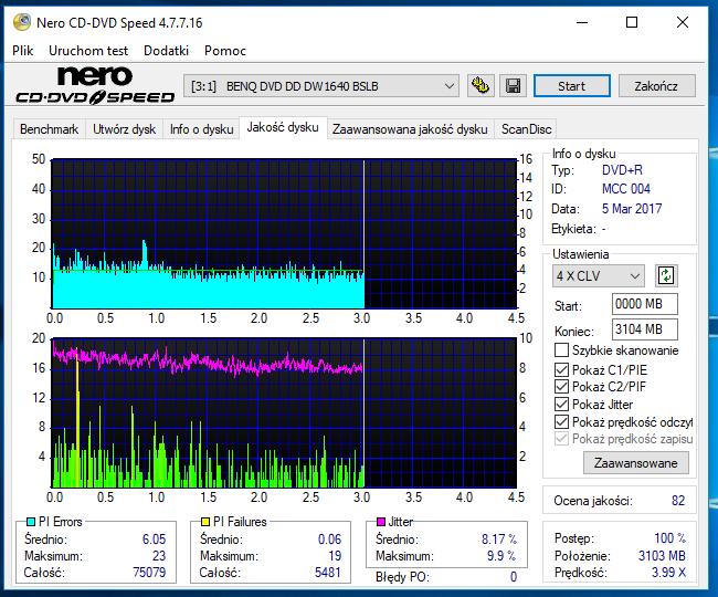 Nazwa:  18-09-2018 12,00 6x@PLEXTOR DVDR   PX-760A 1.07 scan2.PNG,  obejrzany:  43 razy,  rozmiar:  63.4 KB.