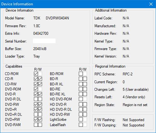 TDK A1D+440N (DVDRW0404N) 2003r-device-info.png