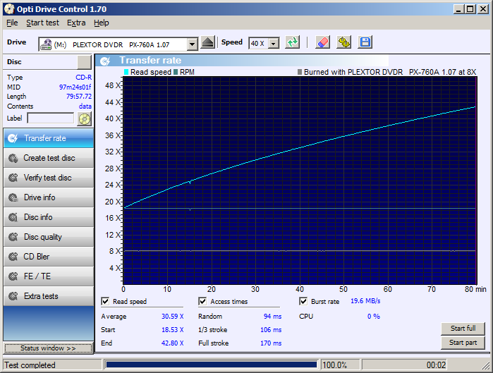Nazwa:  02 CD-R WaterShield Glossy Plextor PX-760A x8 TransferRate.png,  obejrzany:  182 razy,  rozmiar:  39.0 KB.
