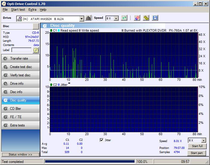 Nazwa:  03 CD-R WaterShield Glossy Plextor PX-760A x8 QTY iHAS524B.png,  obejrzany:  180 razy,  rozmiar:  45.9 KB.