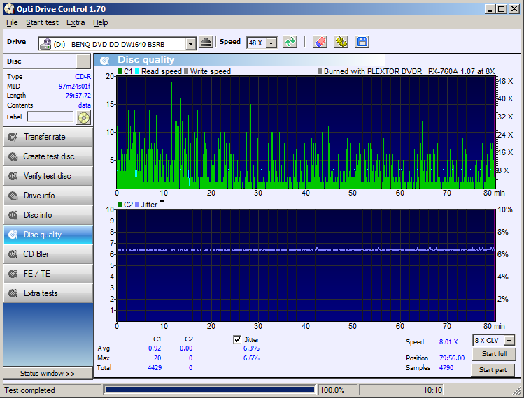 Nazwa:  04 CD-R WaterShield Glossy Plextor PX-760A x8 QTY BENQ1640.png,  obejrzany:  183 razy,  rozmiar:  53.5 KB.