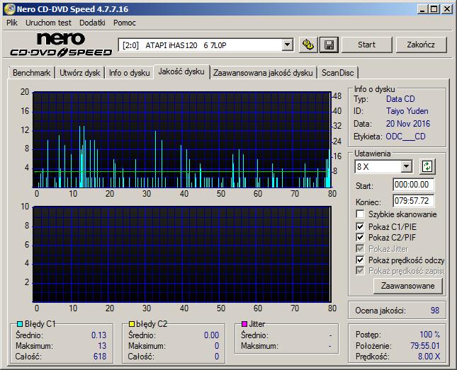 Nazwa:  07 CD-R WaterShield Glossy Plextor PX-760A x8 QTY iHAS1206.png,  obejrzany:  185 razy,  rozmiar:  38.5 KB.