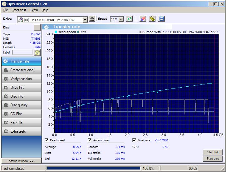 Nazwa:  02 DVD-R Water Shield Glossy Plextor PX-760A x8 Transfer Rate.png,  obejrzany:  180 razy,  rozmiar:  46.1 KB.