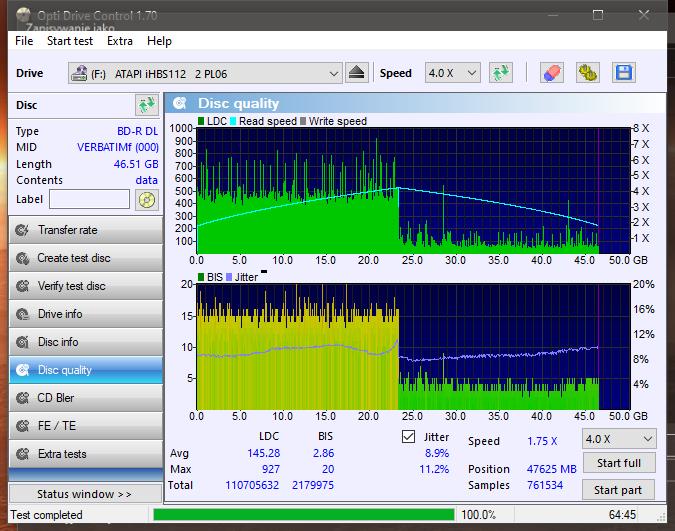Verbatim BD-R DL 50GB x6 Printable MID: VERBATIMf-disc_quality_08-czerwca-2021.png