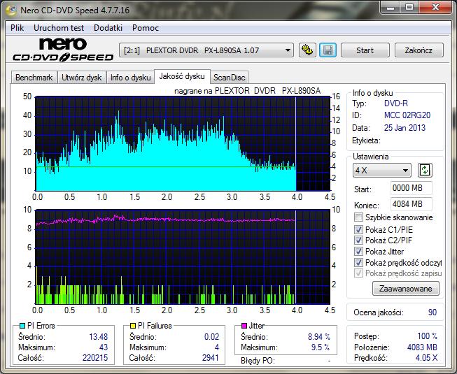 VERBATIM DVD-R DataLifePlus 8x Advanced Azo - pytanie-plextor_dvdr___px-l890sa_1.07_25-january-2013_22_36.png
