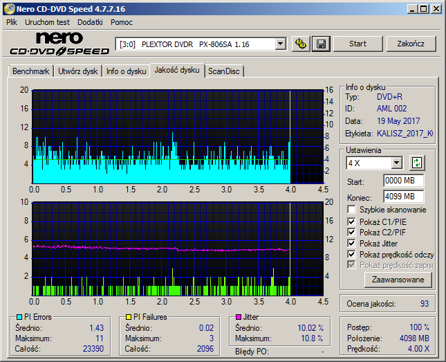 Kodak DVD+R 4,7 GB x8 MID: AML-002-00-plextor_dvdr___px-806sa_1.16_20-may-2017_21_04.png