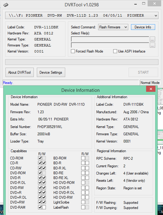DVRTool v1.0 - firmware flashing utility for Pioneer DVR/BDR drives-2018-02-02_14-01-51.png