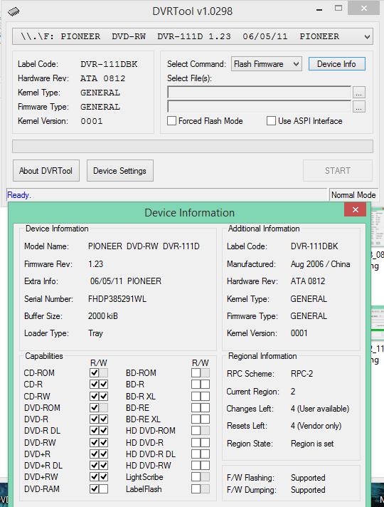 DVRTool v1.0 - firmware flashing utility for Pioneer DVR/BDR drives-2018-02-02_14-01-51.png