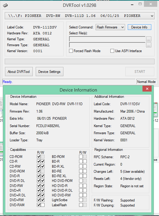 DVRTool v1.0 - firmware flashing utility for Pioneer DVR/BDR drives-2018-02-08_15-36-10.png