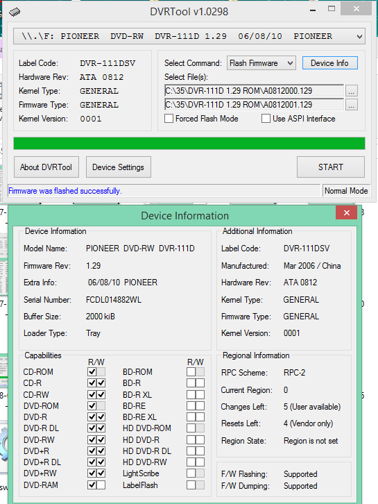 DVRTool v1.0 - firmware flashing utility for Pioneer DVR/BDR drives-2018-02-08_15-41-10.png