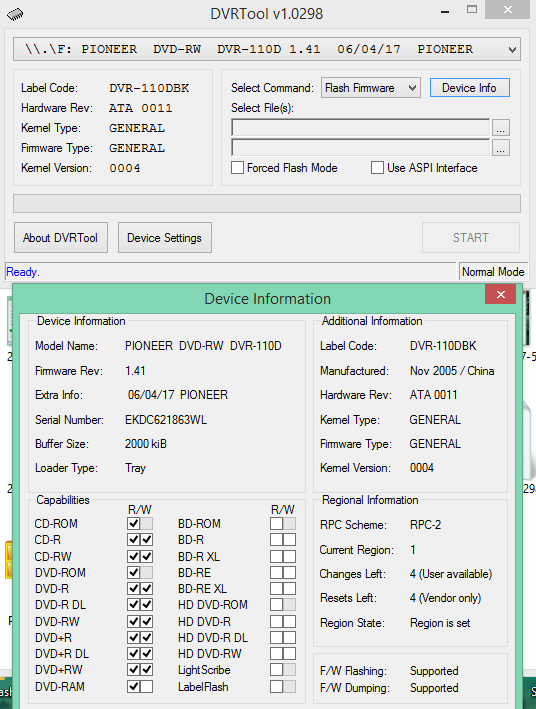 DVRTool v1.0 - firmware flashing utility for Pioneer DVR/BDR drives-2018-02-13_18-05-53.png