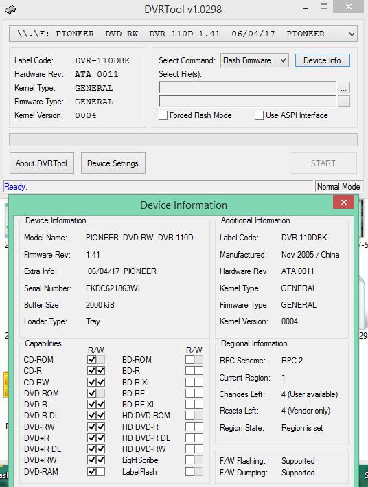 DVRTool v1.0 - firmware flashing utility for Pioneer DVR/BDR drives-2018-02-13_18-05-53.png