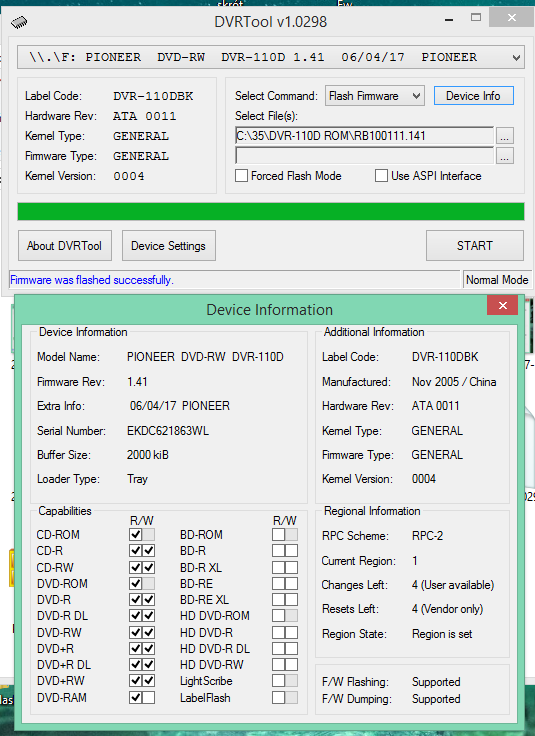DVRTool v1.0 - firmware flashing utility for Pioneer DVR/BDR drives-2018-02-13_18-07-55.png