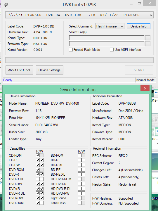 DVRTool v1.0 - firmware flashing utility for Pioneer DVR/BDR drives-2018-02-13_19-34-03.png