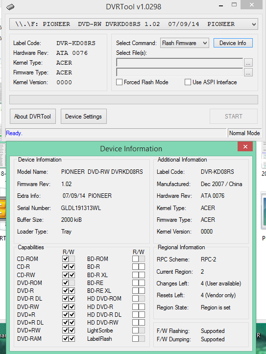 DVRTool v1.0 - firmware flashing utility for Pioneer DVR/BDR drives-2018-04-05_07-07-57.png
