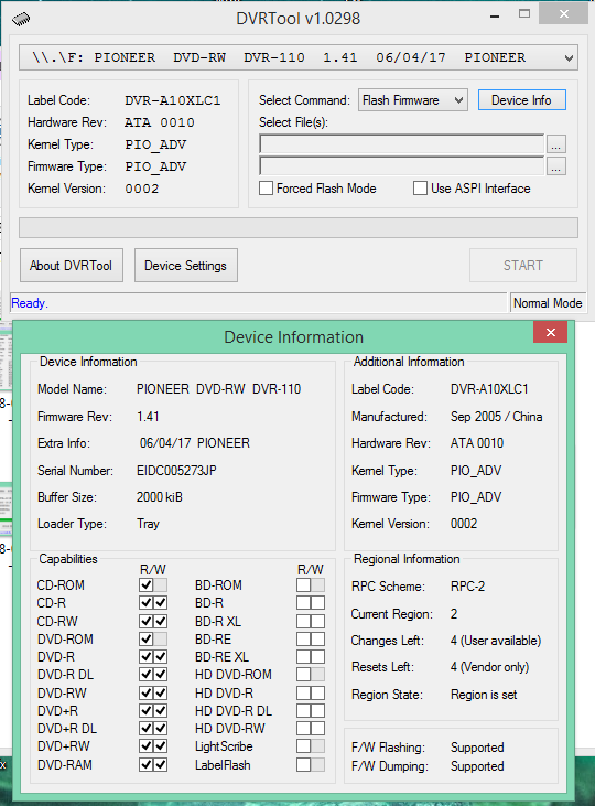DVRTool v1.0 - firmware flashing utility for Pioneer DVR/BDR drives-2018-03-09_07-51-11.png