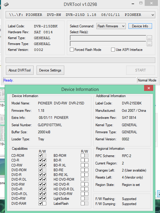 DVRTool v1.0 - firmware flashing utility for Pioneer DVR/BDR drives-2019-10-09_13-58-30.png
