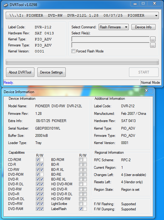 DVRTool v1.0 - firmware flashing utility for Pioneer DVR/BDR drives-przechwytywani.png