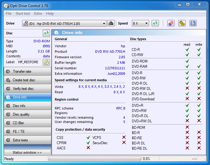 hp dvd rw ad 7701h firmware update