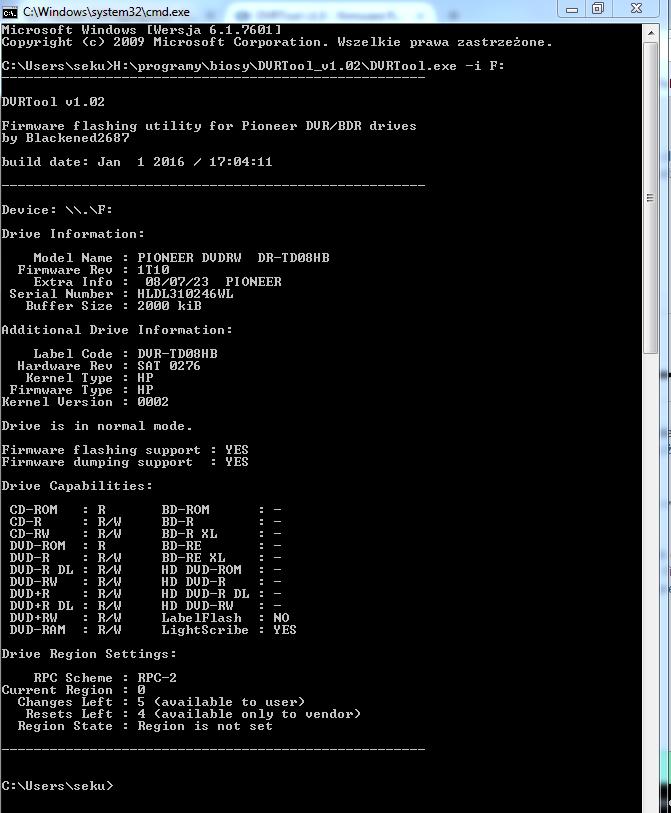 DVRTool v1.0 - firmware flashing utility for Pioneer DVR/BDR drives-przechwytywanie-02.png