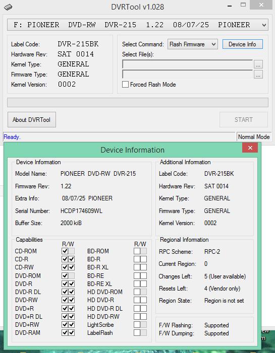 DVRTool v1.0 - firmware flashing utility for Pioneer DVR/BDR drives-2016-03-18_16-08-42.png