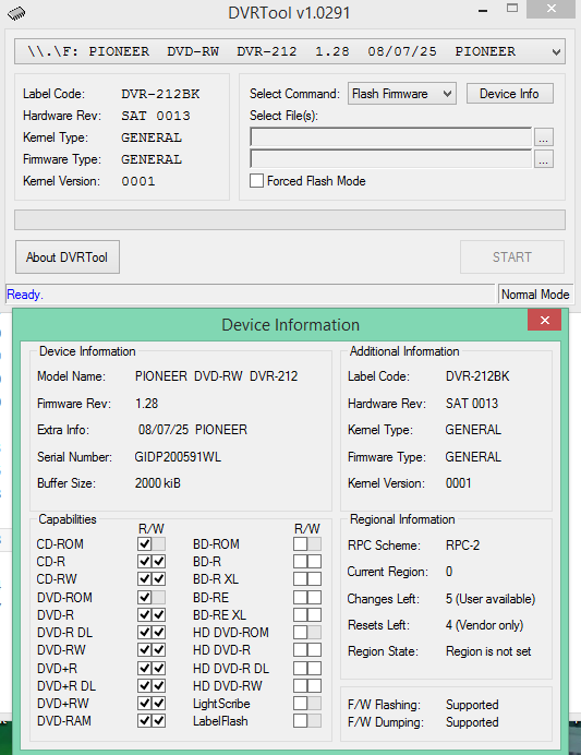 DVRTool v1.0 - firmware flashing utility for Pioneer DVR/BDR drives-2016-03-31_11-19-59.png