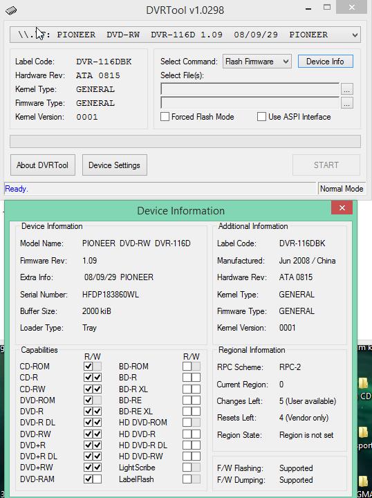 DVRTool v1.0 - firmware flashing utility for Pioneer DVR/BDR drives-2017-03-27_07-11-46.png