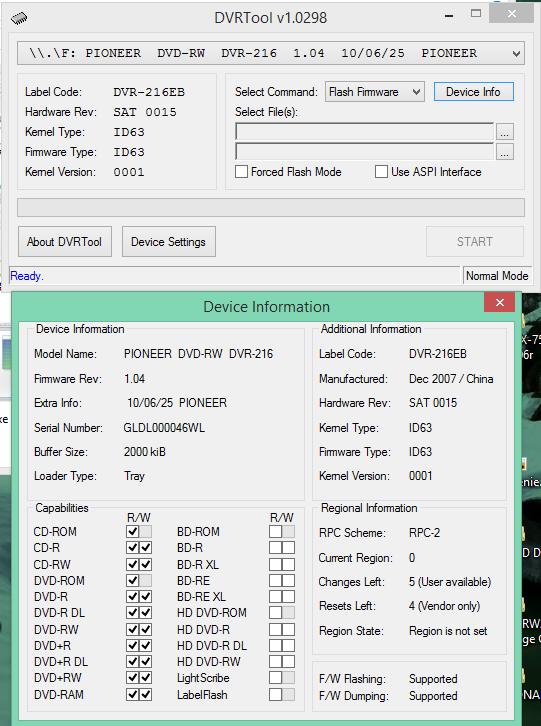 DVRTool v1.0 - firmware flashing utility for Pioneer DVR/BDR drives-2017-07-22_13-19-03.png