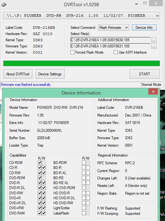 DVRTool v1.0 - firmware flashing utility for Pioneer DVR/BDR drives-2017-07-22_13-20-49.png